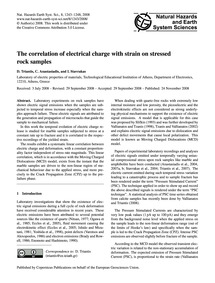 The Correlation of Electrical Charge wit... by Triantis, D.