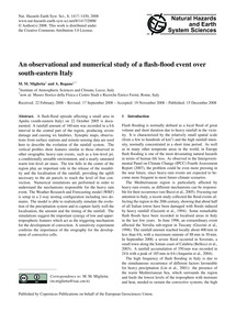 An Observational and Numerical Study of ... by Miglietta, M. M.