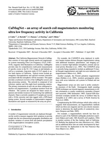 Calmagnet – an Array of Search Coil Magn... by Cutler, J.