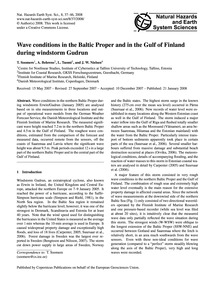 Wave Conditions in the Baltic Proper and... by Soomere, T.