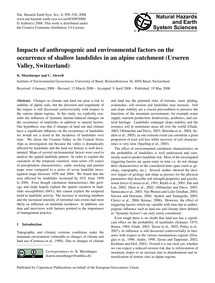 Impacts of Anthropogenic and Environment... by Meusburger, K.