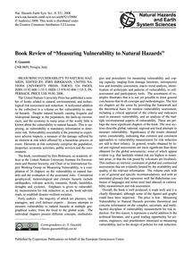 Book Review of Measuring Vulnerability t... by Guzzetti, F.