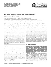 Are Floods in Part a Form of Land Use Ex... by Dorner, W.