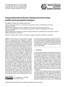 Categorizing Natural Disaster Damage Ass... by Myint, S. W.