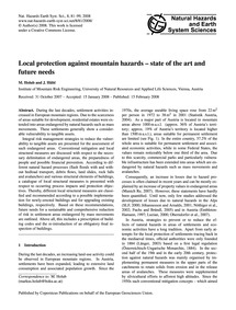 Local Protection Against Mountain Hazard... by Holub, M.