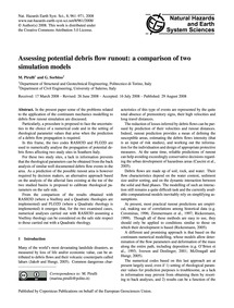 Assessing Potential Debris Flow Runout: ... by Pirulli, M.