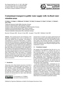 Contaminant Transport to Public Water Su... by Kühlers, D.
