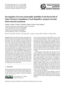 Investigation of Recent Catastrophic Lan... by Klimeš, J.