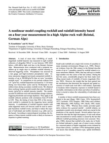 A Nonlinear Model Coupling Rockfall and ... by Krautblatter, M.