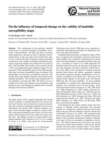 On the Influence of Temporal Change on t... by Meusburger, K.