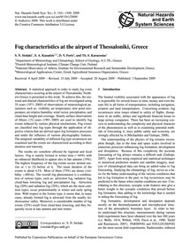 Fog Characteristics at the Airport of Th... by Stolaki, S. N.