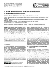 A Revised (Ptva) Model for Assessing the... by Dall'Osso, F.