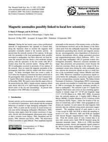 Magnetic Anomalies Possibly Linked to Lo... by Masci, F.