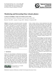 Monitoring and Forecasting Etna Volcanic... by Scollo, S.