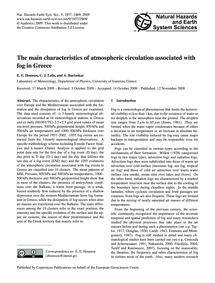 The Main Characteristics of Atmospheric ... by Houssos, E. E.
