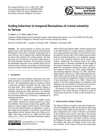 Scaling Behaviour in Temporal Fluctuatio... by Telesca, L.