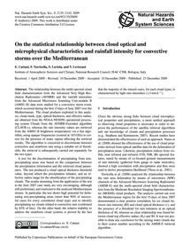 On the Statistical Relationship Between ... by Cattani, E.