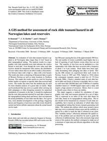 A Gis Method for Assessment of Rock Slid... by Romstad, B.