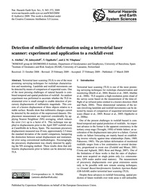 Detection of Millimetric Deformation Usi... by Abellán, A.