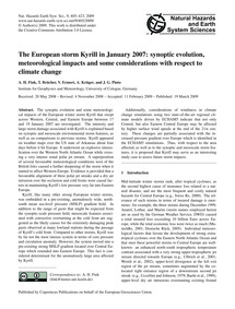 The European Storm Kyrill in January 200... by Fink, A. H.