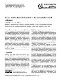 Review Article: Numerical Analysis of th... by Parish, Y.