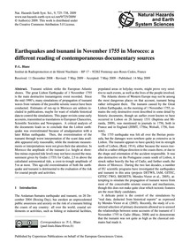 Earthquakes and Tsunami in November 1755... by Blanc, P.-l.