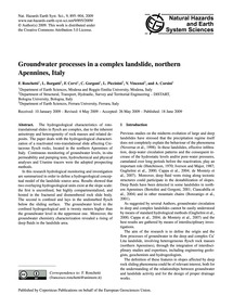 Groundwater Processes in a Complex Lands... by Ronchetti, F.