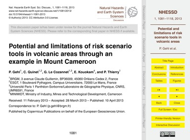 Potential and Limitations of Risk Scenar... by Gehl, P.