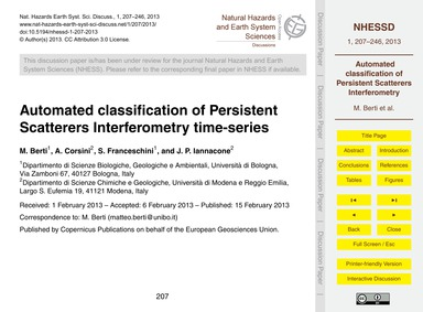 Automated Classification of Persistent S... by Berti, M.