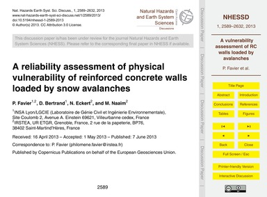 A Reliability Assessment of Physical Vul... by Favier, P.