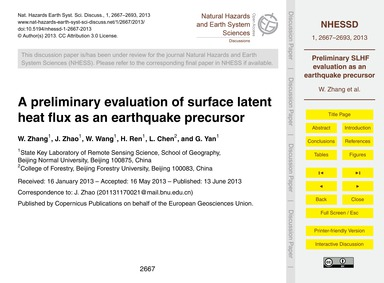 A Preliminary Evaluation of Surface Late... by Zhang, W.
