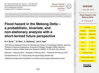 Flood Hazard in the Mekong Delta –  a Pr... by Dung, N. V.