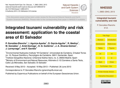 Integrated Tsunami Vulnerability and Ris... by González-riancho, P.