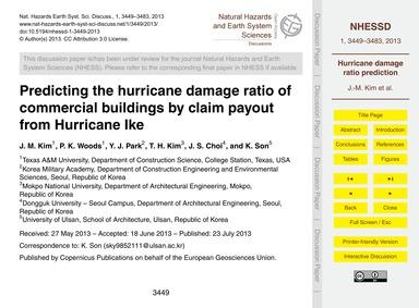 Predicting the Hurricane Damage Ratio of... by Kim, J. M.