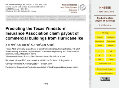 Predicting the Texas Windstorm Insurance... by Kim, J. M.
