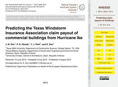 Predicting the Texas Windstorm Insurance... by Kim, J. M.