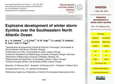 Explosive Development of Winter Storm Xy... by Liberato, M. L. R.