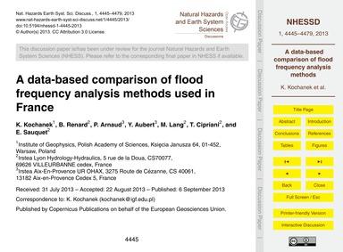 A Data-based Comparison of Flood Frequen... by Kochanek, K.