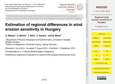 Estimation of Regional Differences in Wi... by Mezõsi, G.