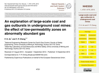 An Explanation of Large-scale Coal and G... by An, F. H.