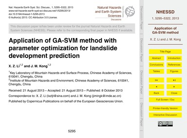 Application of Ga-svm Method with Parame... by Li, X. Z.