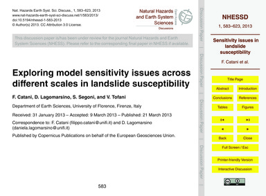 Exploring Model Sensitivity Issues Acros... by Catani, F.