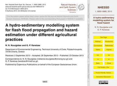 A Hydro-sedimentary Modelling System for... by Kourgialas, N. N.