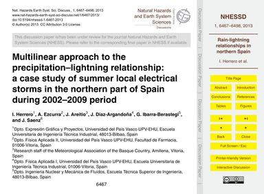 Multilinear Approach to the Precipitatio... by Herrero, I.