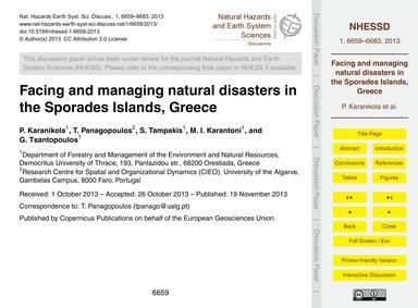 Facing and Managing Natural Disasters in... by Karanikola, P.