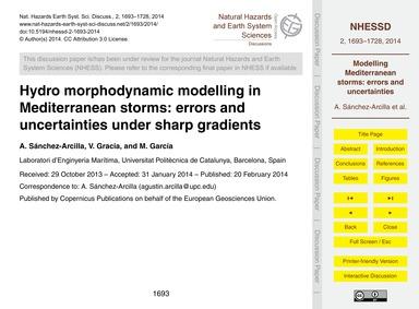 Hydro Morphodynamic Modelling in Mediter... by Sánchez-arcilla, A.
