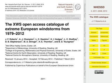 The Xws Open Access Catalogue of Extreme... by Roberts, J. F.