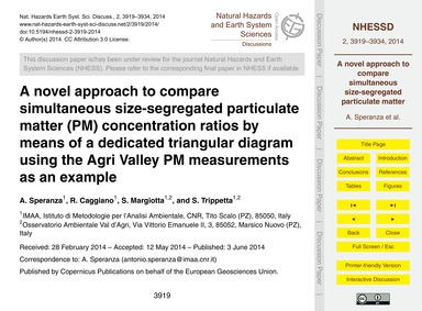 A Novel Approach to Compare Simultaneous... by Speranza, A.