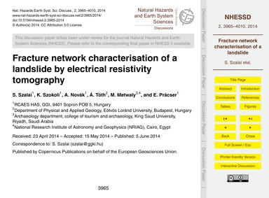 Fracture Network Characterisation of a L... by Szalai, S.