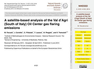 A Satellite-based Analysis of the Val D'... by Faruolo, M.